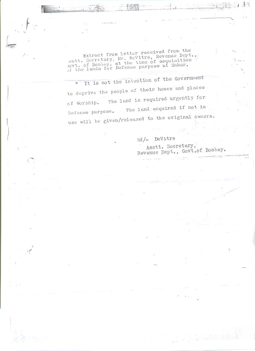 Time of India Letter 31 July 1942